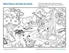 Hidden Picture Puzzles | Bible Lesson Activities for Children