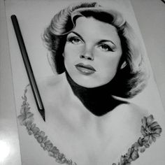 Judy Garland - #judygarland #art #drawing #illustration #leylabuk
