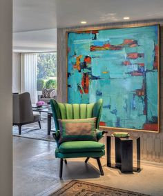 Hand Made Large Acrylic Painting On Canvas, Abstract Art Decor. Large Contemporary Paintingt - By Biao, Celine Ziang Art