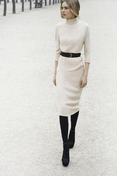 Christian Dior Pre-Fall 2012 Stretch Silk Cadi Draped Dress