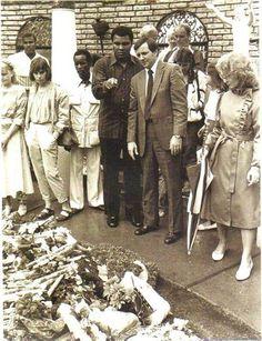 Muhammad Ali visiting Graceland in 1984