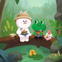 it's been 2 years since cony started the adventure. it's hard work trying to find brown 😭 #searchforbrown #linefriends #line #linebubble2 #cony #conyline #conylinefriends #brown #brownline #brownlinefriends #love #cute #celebration #rabbit #frog #duck #cake #かわいー #コー二 #ブラーウン #igers #igerstokyo #igersjapan #igersjakarta #igersindonesia #igersmelbourne #igersaustralia Children's Book Characters, Duck Cake, Cony Brown, Bunny And Bear, Tumblr Stickers, Japanese Cartoon, Kawaii, Cute Stationery, Line Friends