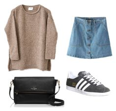 """""""Untitled #73"""" by tvj19 ❤ liked on Polyvore featuring Kate Spade and adidas"""