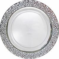 10.25  Lace Clear / Silver Plastic Dinner Plates  sc 1 st  Pinterest : clear disposable plates - pezcame.com