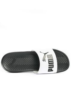 Puma, Popcat Slides - Black/White - Puma - MOOSE Limited