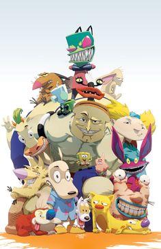 Nickelodeon Cartoon | Nickelodeon toons, Mario and Luigi, and 80s cartoon art