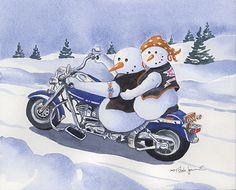 Bikie snowmen
