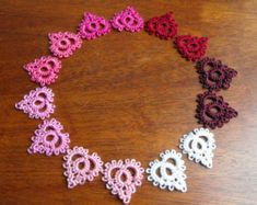 Little bits of Love  / Needle Tatted Lace Heart Earrings for Valentine's Day / Reiki infused