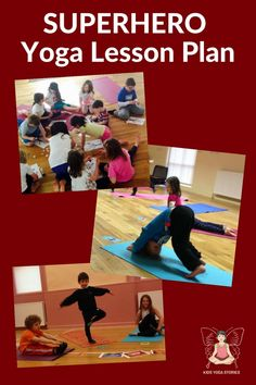 A fun and interactive kids yoga lesson plan inspired by the book Eliot Jones Midnight Superhero. Learn superhero yoga for kids. Kids Yoga Poses, Yoga For Kids, Exercise For Kids, Yoga Lessons, Lessons For Kids, Family Yoga, Yoga Themes, Childrens Yoga, Superhero Kids