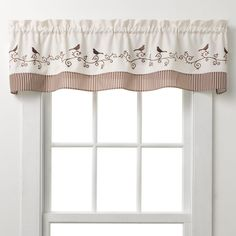 Window treatments at Kohl's - Shop our full line of drapery and curtains, including this CHF & You Bird Window Valance, style number at Kohl's. Long Window Curtains, Kitchen Window Blinds, Kitchen Curtains, Valance Curtains, Kitchen Windows, Curtains Living, Cafe Curtains, Chf, Beautiful Mirrors