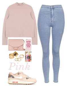 """""""Untitled #133"""" by barijeziberi ❤ liked on Polyvore featuring beauty, Topshop, NIKE, Victoria Beckham, Kate Spade and Pieces"""