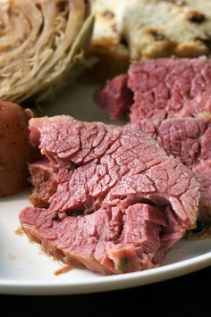 "Slow Cooker Corned Beef, Cabbage, and Potatoes | ""This is a typical St. Patrick's Day meal which is simple, with few ingredients and cooked in a slow cooker so it is super easy, yet delicious! Serve in a large soup mug or bowl with Irish soda bread, rye bread, or rolls on the side."" #slowcooker #slowcookerrecipes #crockpotrecipes #crockpotdinnerideas Slow Cooker Corned Beef, Cabbage Slow Cooker, Corned Beef Brisket, Corned Beef Recipes, Slow Cooker Chicken, Slow Cooker Recipes, Low Carb Recipes, Crockpot Recipes, Cabbage And Potatoes"
