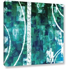 ArtWall Herb Dickinson Process Gallery-wrapped Canvas, Size: 18 x 18, Blue