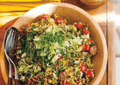Sorghum and Sun-Dried Tomato Pesto Tabbouleh | Vegetarian Times