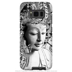 Black and White Buddha - Artistic Samsung Galaxy S8 PLUS Tough Case - Dual Layer Protection - Bliss of being
