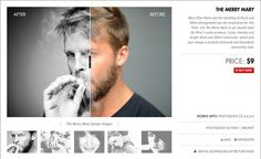 """Download Photoshop Actions """"The Merry Mary"""" at: http://www.lookfilter.com"""