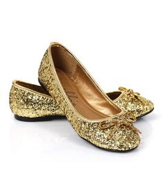 This Gold Glitter Mila Ballet Costume Flat is perfect! #zulilyfinds
