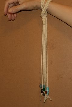 making a wrist distaff - step 6