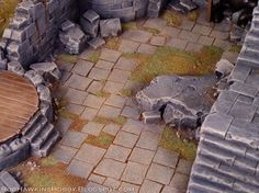 Flagstone Tutorial terrain street city ruins miniatures wargraming minis resource tool how to tutorial instructions | Create your own roleplaying game material w/ RPG Bard: www.rpgbard.com | Writing inspiration for Dungeons and Dragons DND D&D Pathfinder PFRPG Warhammer 40k Star Wars Shadowrun Call of Cthulhu Lord of the Rings LoTR + d20 fantasy science fiction scifi horror design | Not Trusty Sword art: click artwork for source