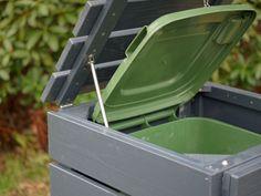 1er Mülltonnenbox / Mülltonnenverkleidung Holz, Oberfläche: Deckend Geölt Anthrazit Grau Garbage Can Shed, Garbage Storage, Garbage Containers, Compost, Projects To Try, Canning, Diy, Outdoor, Washing Bins