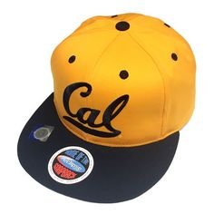 California CAL UC Berkeley Golden Bears Hat Gold/Navy 2 Tone Snapback Cap