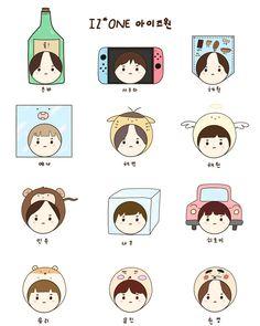 A imagem pode conter: texto Kpop Drawings, Cute Drawings, Character Art, Character Design, Avengers Fan Art, Sakura Miyawaki, Japanese Girl Group, Line Sticker, Kpop Fanart