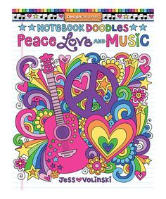 Another great find on #zulily! Peace, Love & Music Notebook Doodles Coloring Book #zulilyfinds