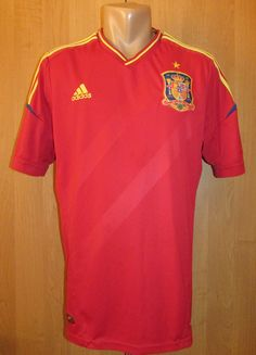 12177a42224 Spain 2012 2013 home football shirt by Adidas camiseta Euro2012 WorldCup  soccer jersey NT