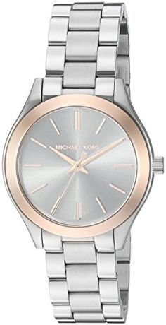 Women's Wrist Watches - Michael Kors Womens Mini Slim Runway SilverTone Watch MK3514 -- Details can be found by clicking on the image. (This is an Amazon affiliate link)
