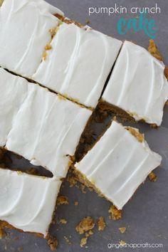 pumpkin crunch cake is a fun alternative to pumpkin pie