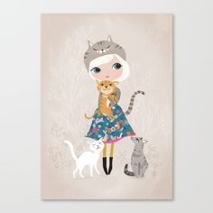 Girl, Cats, Cat lover, nature