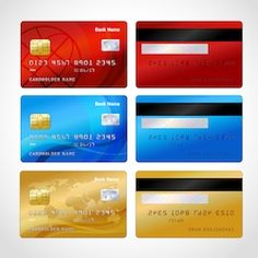 Find Realistic Credit Cards Set Isolated Vector stock images in HD and millions of other royalty-free stock photos, illustrations and vectors in the Shutterstock collection. Credit Card Design, Diy Doll Miniatures, Barbie Paper Dolls, Paypal Gift Card, Paper Toys, Credit Cards, Vector Freepik, Vectors, Passport Template