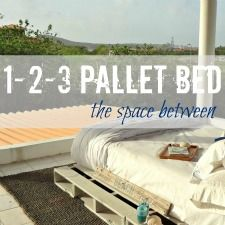 how to make a pallet bed in 3 simple steps!