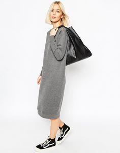 ASOS grey knit dress
