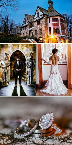 Elegant and Timeless Wedding Inspiration at an Historic Castle   Dramatic Gowns and Style   Vermont Bride Magazine