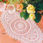 Circle Oval Crochet Doily Pattern