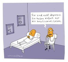 """""""You aren't depressive. Your life just sucks.""""  SPAM Welcome Cartoons - SPIEGEL ONLINE - Spam"""