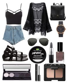 """""""Summertime Sadness"""" by oliviaa-maay ❤ liked on Polyvore featuring WithChic, Charlotte Russe, Marc Jacobs, Topshop, Bobbi Brown Cosmetics, MAC Cosmetics, NARS Cosmetics, Chanel and plus size clothing"""
