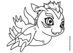 digimon coloring pages | Gabumon coloring sheet - DIGIMON coloring ...