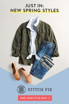 Stitch Fix is ready to help you start Spring out in style. Your Personal Stylist will handpick 5 perfect pieces and they'll be delivered right to your door—everything you need to create the best outfits all season long. Keep what you love and return the r Stitch Fix Outfits, Look Fashion, Spring Fashion, Womens Fashion, Fashion Ideas, Petite Fashion, Ladies Fashion, Capsule Wardrobe, South Korea Photography
