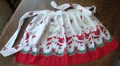 Santa Apron - vintage linen by Laurabelle1, via Flickr
