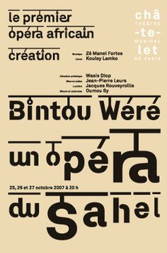 To celebrate the launch of the 2014 ISTD Awards, we'll be showcasing some previous award winners here. Where better to start than with 2009's overall winner Philippe Apeloig and his series of posters for the Théâtre du Châtelet...