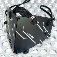 装甲マスクユニットmk4 インフォノイズプリント | ハンドメイドマーケット minne Black Future, Design Palette, Masks Art, Mask Design, Ipad Pro, Cyberpunk, Small Bathroom, Typography, Creative