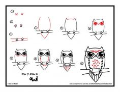How to draw an owl - art for kids hub - Art For Kids Hub, Art Hub, Drawing Lessons, Art Lessons, Owl Kids, Drawing Sheet, Owl Art, Drawing For Kids, Art Plastique