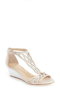 Wedding shoe with low heel