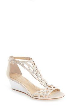 Wedding shoe with low heel