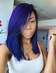 Online Shop Ombre hair color sew in human hair bundles and closure and frontal for brunettes colored hair for black off promotion factory cheap price,DHL worldwide shipping, store coupon available. Blue Hair Black Girl, Pastel Purple Hair, Hair Color Purple, Lilac Hair, Green Hair, Hair Colors, Purple Wig, Dark Purple, Love Hair