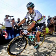 Peter Sagan : Down but not out. Roubaix, 2017 by VeloImages