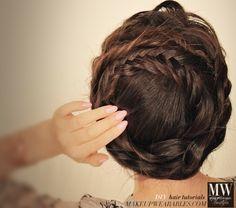 Easier than it looks #hairstyles | Crown #braid your hair tutorial
