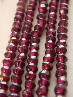4-5mm Faceted Garnet Beads, Stand of Garnet Beads, Garnet Beads, Faceted Garnet Beads, Faceted Rondelle Beads, Beading Supplies, Garnet by Loft12Studios on Etsy